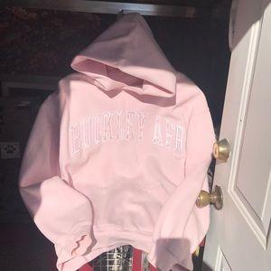 """Pink Pullover Hoodie """"Buckley AFB"""""""